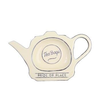 Suport ceramică pentru pliculețe de ceai T&G Woodware Pride of Place, crem poza bonami.ro