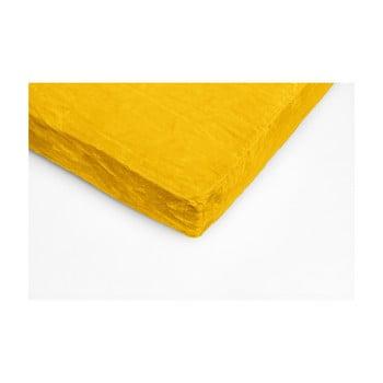 Cearceaf din micropluș My House, 180 x 200 cm, galben poza bonami.ro