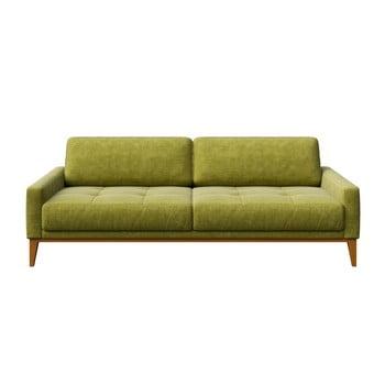 Canapea cu 3 locuri MESONICA Musso Tufted, verde