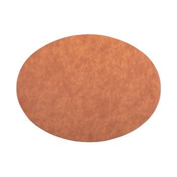 Suport farfurie din imitație de piele ZicZac Troja,33x45cm, portocaliu - maro bonami.ro