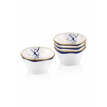 Set 4 boluri din porțelan Mia Bleu, ⌀ 10 cm, alb - albastru bonami.ro