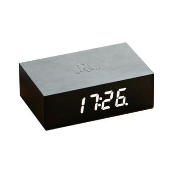 Ceas deșteptător cu LED Ginko Flip Click, negru bonami.ro