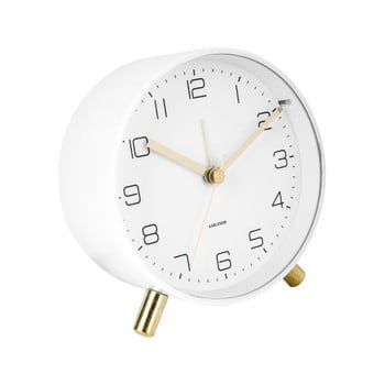 Ceas cu alarmă Karlsson Lofty,ø11cm, alb bonami.ro