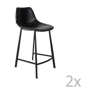 Set 2 scaune bar Dutchbone Franky, înălțime 91 cm, negru imagine