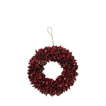 Coroniță pentru Crăciun J-Line Leaf, ø 28 cm, roșu bonami.ro