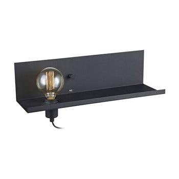 Aplică perete cu stație de încărcare USB Markslöjd Multi, negru bonami.ro