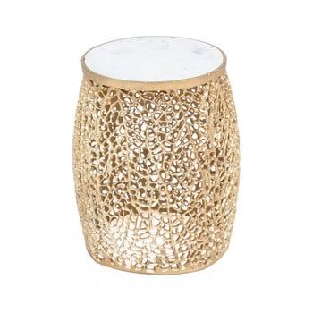 Taburet WOOX LIVING Honey, ⌀ 35 cm, auriu imagine