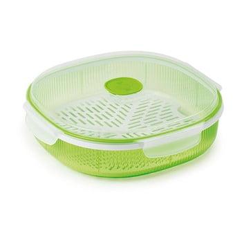 Set pentru gătirea pe aburi în cuptorul cu microunde Snips Dish Steamer, 2l, verde poza bonami.ro