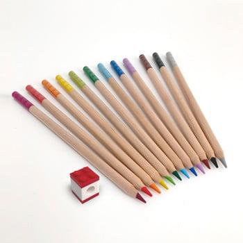 Set 12 creioane colorate cu clips în formă de lego LEGO® Stationery bonami.ro