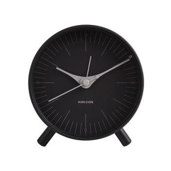 Ceas deșteptător din metal Karlsson Index, ø 11 cm, negru bonami.ro