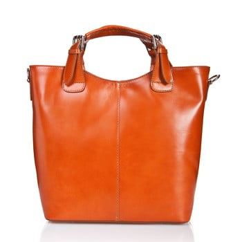 Geantă din piele Massimo Castelli Valeria, maro - portocaliu imagine