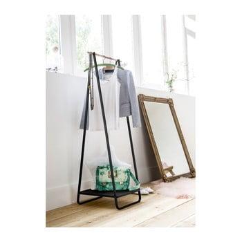 Suport pentru îmbrăcăminte cu raft Compactor Portant Blanc, negru poza bonami.ro