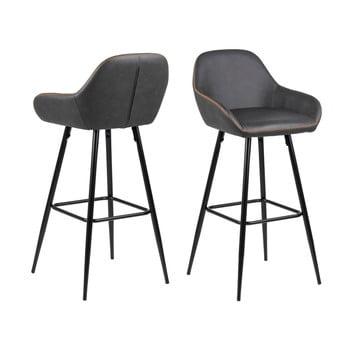 Set 2 scaune de bar Actona Candis, gri - bej imagine