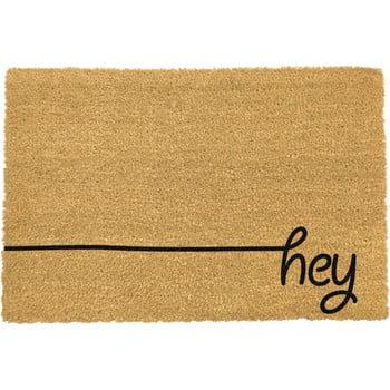 Covoraș intrare din fibre de cocos Artsy Doormats Hey Scribble, 40 x 60 cm, negru bonami.ro