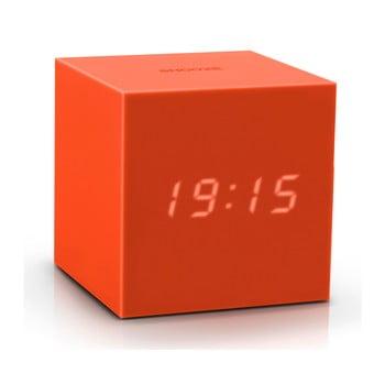 Ceas deșteptător cu LED Gingko Gravity Cube, portocaliu bonami.ro