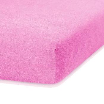 Cearceaf elastic AmeliaHome Ruby, 200 x 80-90 cm, roz bonami.ro