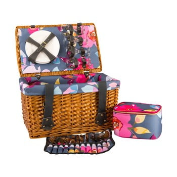 Coș picnic cu echipament pentru 4 persoane Navigate Basket bonami.ro