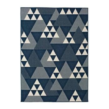 Covor pentru exterior Universal Clhoe Triangles, 120 x 170 cm, albastru-gri poza bonami.ro