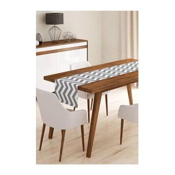 Napron din microfibră pentru masă Minimalist Cushion Covers Grey Stripes, 45x145cm bonami.ro