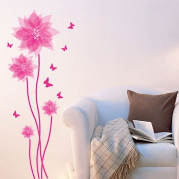 Autocolant Fanastick Flowers and Butterflies Wall bonami.ro