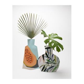 Set 2 vaze textile pentru flori Really Nice Things Tropical poza bonami.ro
