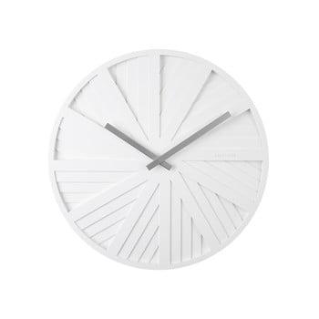 Ceas de perete Karlsson Slides, ø 40 cm, alb poza bonami.ro