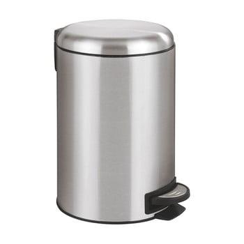Coș de gunoi cu pedală Wenko Leman, 12 l, argintiu bonami.ro