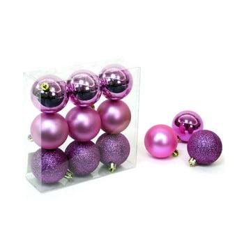 Set 9 decorațiuni de Crăciun Unimasa Caja, roz - violet bonami.ro