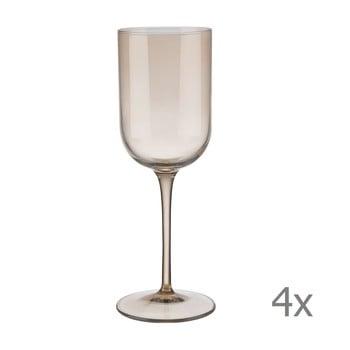 Set 4 pahare pentru vin alb Blomus Fuum, 280 ml, maro transparent poza bonami.ro