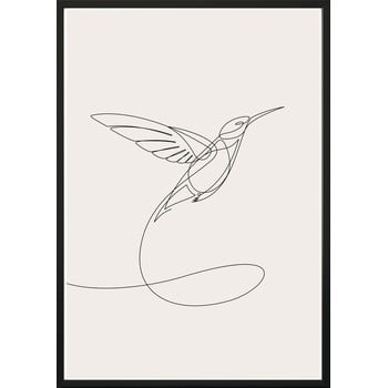 Poster cu ramă pentru perete SKETCHLINE/HUMMINGBIRD, 40 x 50 cm bonami.ro