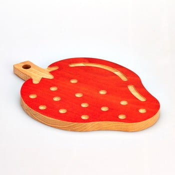 Tocător din lemn de fag Bisetti Strawberry, 23 x 32 cm poza bonami.ro