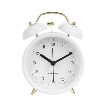 Ceas alarmă Karlsson Classic, alb, ⌀ 10 cm bonami.ro