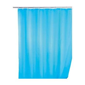 Perdea duș anti mucegai Wenko, 180x200cm, albastru deschis poza bonami.ro