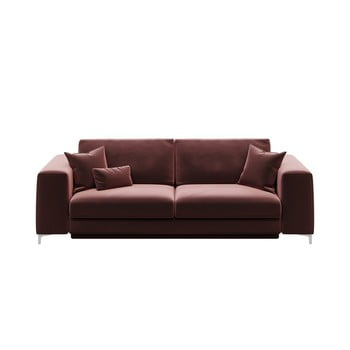 Canapea extensibilă cu 3 locuri devichy Rothe, roz închis imagine
