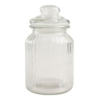 Recipient clasic din sticlă T&G Woodware Ribbed, 1 l poza bonami.ro