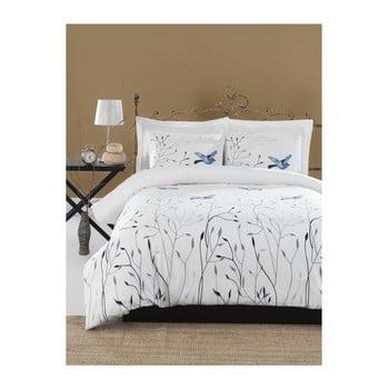 Lenjerie de pat cu cearșaf din bumbac ranforce, pentru pat dublu Mijolnir Fidella Blue, 200 x 220 cm bonami.ro