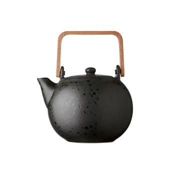 Ceainic din gresie ceramică Bitz Basics, 1,2 l, negru bonami.ro