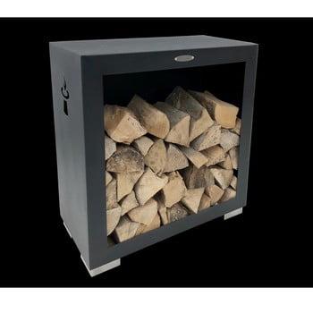Cutie din oțel pentru depozitarea lemnelor Remundi, lățime 79 cm, negru bonami.ro