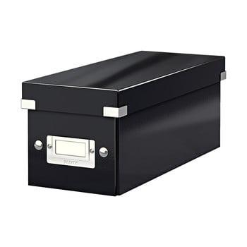 Cutie depozitare cu capac Leitz CD Disc, lungime 35 cm, negru bonami.ro