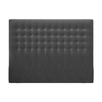 Tăblie pentru pat cu tapițerie de catifea Windsor & Co Sofas Apollo, 140x120cm, gri închis poza bonami.ro