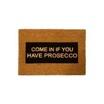 Covoraș intrare din fibre de cocos Artsy Doormats Come In If you Have Prosecco Glitter, 40 x 60 cm poza bonami.ro