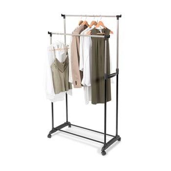 Suport dublu mobil pentru haine, cu înălțime reglabilă Compactor Cleano poza bonami.ro