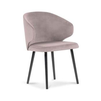 Scaun cu tapițerie de catifea Windsor & Co Sofas Nemesis, roz pudră bonami.ro