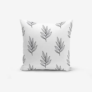 Față de pernă cu amestec din bumbac Minimalist Cushion Covers White Leaf, 45 x 45 cm bonami.ro