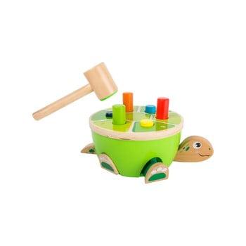 Jucărie cu ciocan din lemn pentru copii Legler Turtle Hammering poza bonami.ro