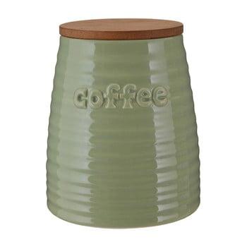 Recipient pentru cafea cu capac din bambus Premier Housewares Winnie, 950 ml, verde poza bonami.ro