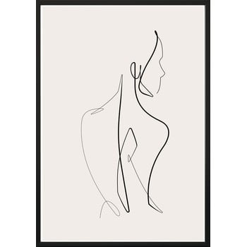 Poster cu ramă pentru perete SKETCHLINE/NAKED, 70 x 100 cm bonami.ro