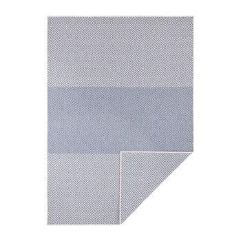 Covor reversibil adecvat interior/exterior Bougari Borneo, 200 x 290 cm, bej-albastru bonami.ro