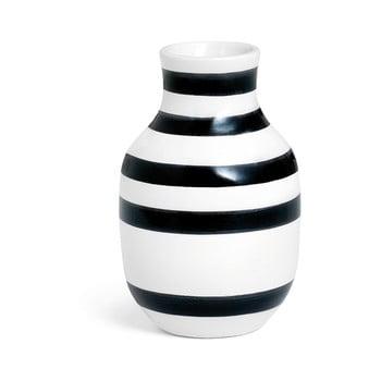 Vază din gresie ceramică Kähler Design Omaggio, înălțime 12,5 cm, negru - alb bonami.ro