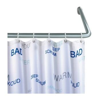 Suport universal argintiu pe colț pentru perdea duș Wenko, ø 2 cm poza bonami.ro